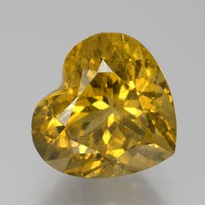 Golden Apatite Gem - 10.6ct Heart Facet (ID: 384011)