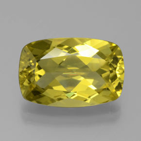 Greenish Golden Apatite Gem - 6.1ct Cushion-Cut (ID: 384520)