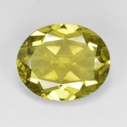 7.2ct Oval Facet Medium Yellow Apatite Gem (ID: 384522)