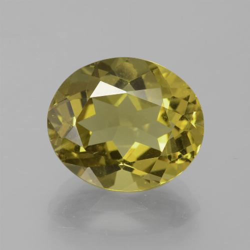 Medium Yellow Apatita Gema - 6.7ct Forma ovalada (ID: 385923)