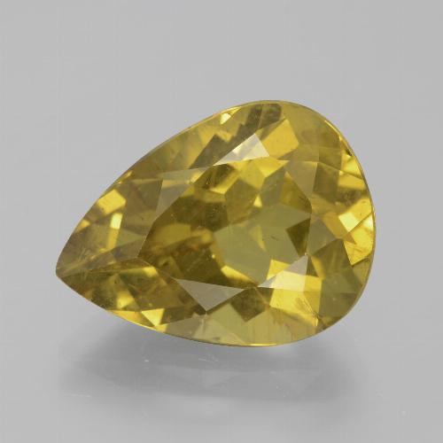 8.02 ct Pear Facet Golden Apatite Gemstone 15.52 mm x 11.6 mm (Product ID: 385929)