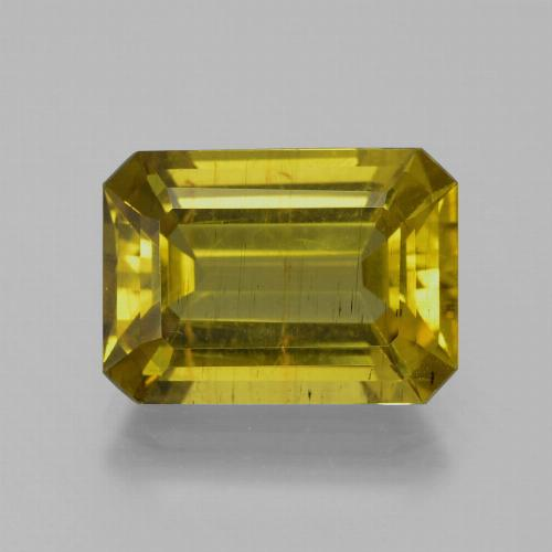 Brownish Yellow Apatita Gema - 8.1ct Forma octagonal (ID: 385932)