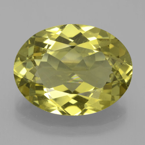 Earthy Yellow Apatite Gem - 9.6ct Oval Facet (ID: 387416)