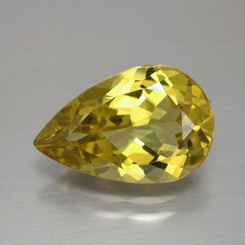 thumb image of 4.1ct Pear Facet Golden Yellow Apatite (ID: 390886)