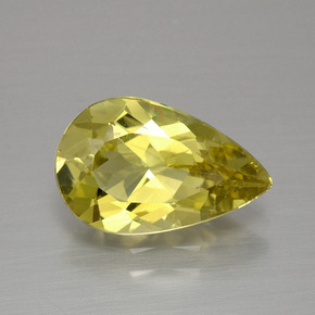 2.7ct Pear Facet Golden Yellow Apatite Gem (ID: 390889)