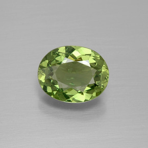 Green Apatite Gem - 1.9ct Oval Facet (ID: 392538)