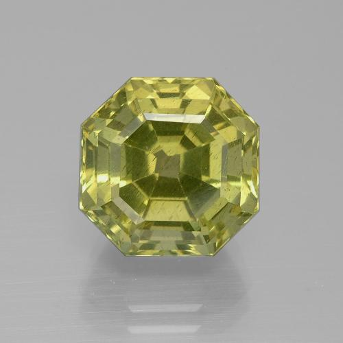 Golden Green Apatite Gem - 9.5ct Asscher Cut (ID: 395815)