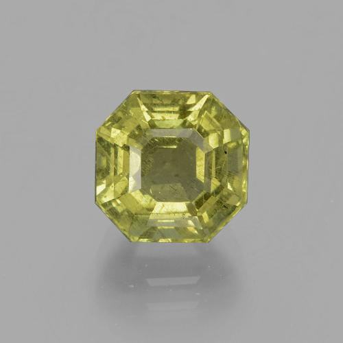 thumb image of 3.6ct Asscher Cut Golden Green Apatite (ID: 396079)