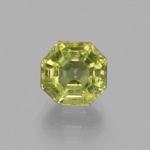 thumb image of 3.4ct Asscher Cut Golden Green Apatite (ID: 396080)