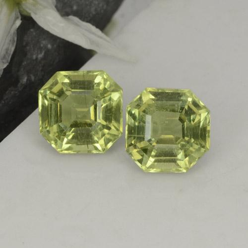 Golden Green Apatite Gem - 2.4ct Asscher Cut (ID: 396123)