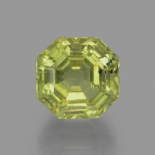Greenish Golden Apatite Gem - 8.1ct Asscher Cut (ID: 396133)