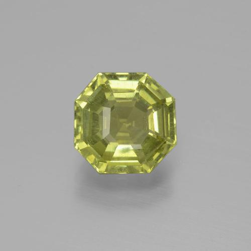 thumb image of 2.6ct Asscher Cut Golden Green Apatite (ID: 396245)