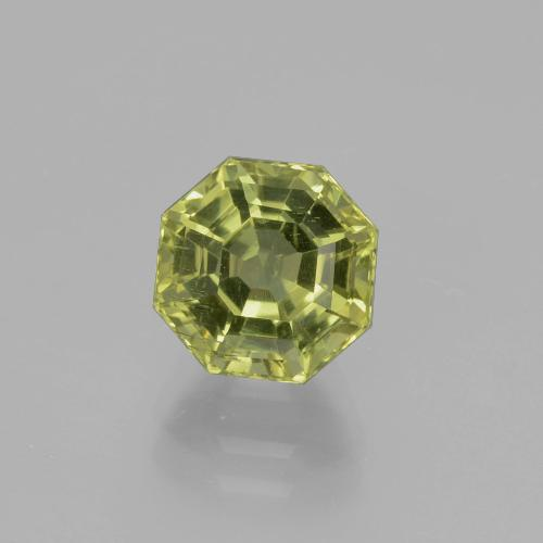 2.76 ct Asscher Cut Yellowish Green Apatite Gemstone 7.72 mm x 7.7 mm (Product ID: 396248)