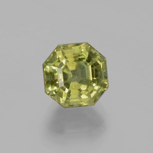 Warm Earthy Green Apatite Gem - 3.8ct Asscher Cut (ID: 396307)