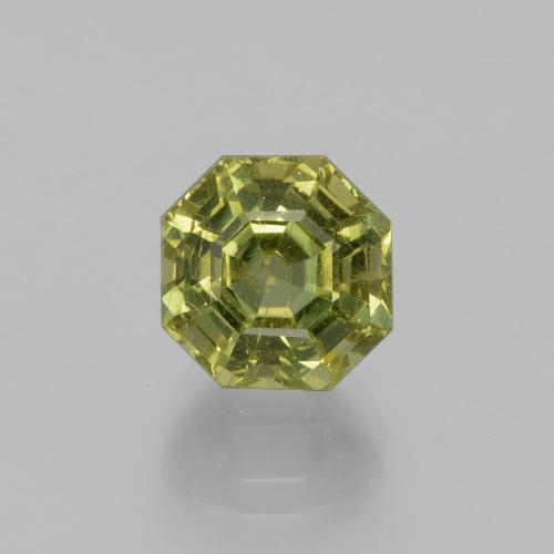 Golden Green Apatite Gem - 4.4ct Asscher Cut (ID: 396309)