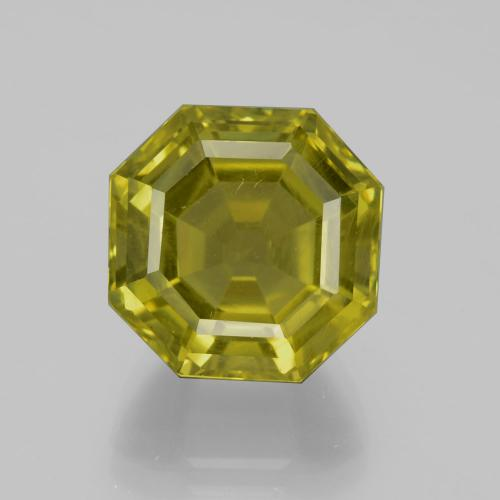 thumb image of 14.4ct Asscher Cut Golden Green Apatite (ID: 396314)