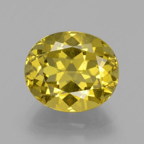 6ct Oval Facet Golden Yellow Apatite Gem (ID: 398360)