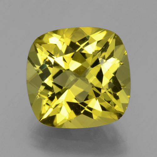 Medium Yellow Apatita Gema - 7.8ct Corte en Forma Cojín (ID: 398361)