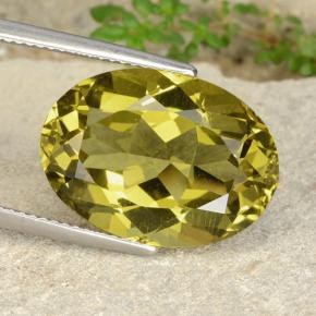 15.65 ct Oval facettiert Medium Yellow Apatit Edelstein 18.75 mm x 13.5 mm (Product ID: 398364)