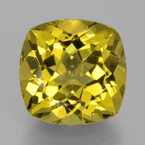 Greenish Golden Apatite Gem - 17.8ct Cushion-Cut (ID: 398365)