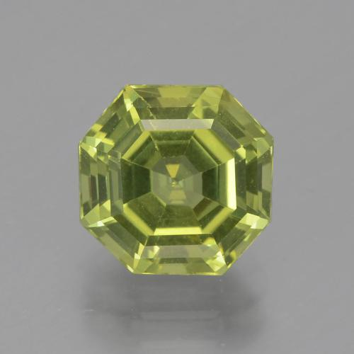 Light Earthy Green Apatite Gem - 3.1ct Asscher Cut (ID: 399650)