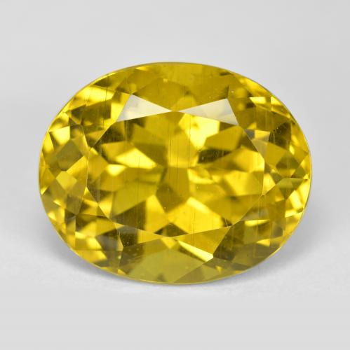 thumb image of 14.8ct Oval Facet Greenish Golden Apatite (ID: 400909)