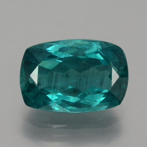 Blue Green Apatite Gem - 6.7ct Cushion-Cut (ID: 404606)