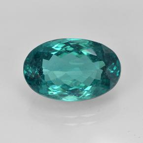 thumb image of 5.3ct Oval Facet Blue Green Apatite (ID: 405953)