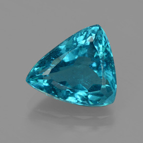 Green Blue Apatite Gem - 4.8ct Trillion Facet (ID: 405958)