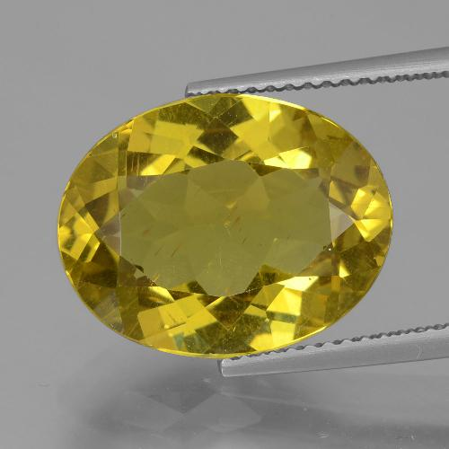 7.9ct Oval Facet Medium Yellow Apatite Gem (ID: 407294)