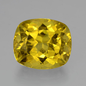 Greenish Golden Apatite Gem - 10.3ct Cushion-Cut (ID: 407301)