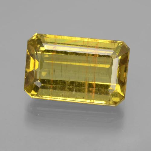 Greenish Golden Apatite Gem - 8.6ct Octagon Facet (ID: 407378)