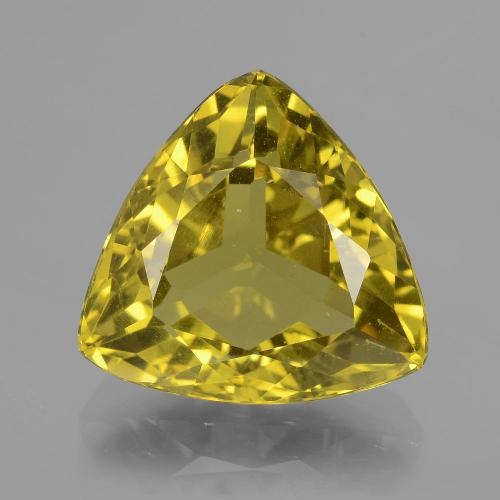 Greenish Golden Apatite Gem - 9ct Trillion Facet (ID: 407379)