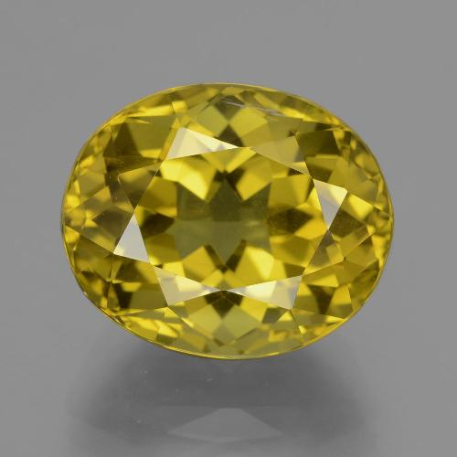 Greenish Golden Apatite Gem - 14.9ct Oval Facet (ID: 407385)