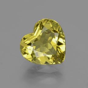 Golden Yellow Apatite Gem - 3.2ct Heart Facet (ID: 407507)