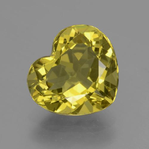Brownish Yellow Apatite Gem - 5ct Cuore sfaccettato (ID: 407510)