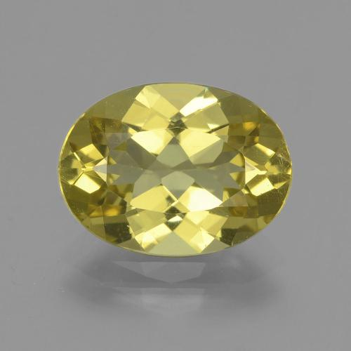 Medium Yellow Apatita Gema - 3.9ct Forma ovalada (ID: 407747)