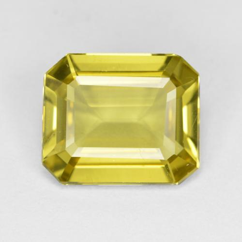 Golden Yellow Apatite Gem - 4ct Octagon Facet (ID: 407842)
