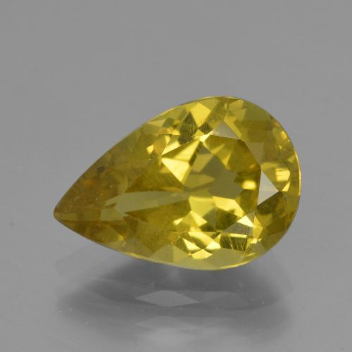 Autumn Yellow Apatite Gem - 4ct Sfaccettatura a pera (ID: 407919)