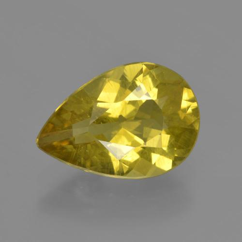 Medium Yellow Apatita Gema - 3.5ct Corte en forma de pera (ID: 408238)