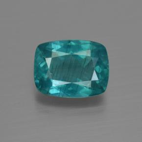 Blue Green Apatite Gem - 3.6ct Cushion-Cut (ID: 412433)