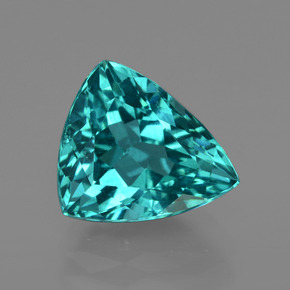 3.91 ct Trillion Facet Green Blue Apatite Gemstone 10.54 mm x 9.3 mm (Product ID: 412569)