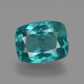 Dark Green Blue Apatite Gem - 3.5ct Taglio a cuscino (ID: 412590)