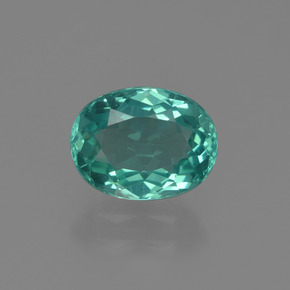 1.46 ct Oval Facet Blue Green Apatite Gemstone 8.10 mm x 6.2 mm (Product ID: 422526)
