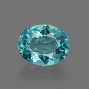 1.10 ct Oval Facet Blue Apatite Gemstone 7.58 mm x 6.1 mm (Product ID: 424048)