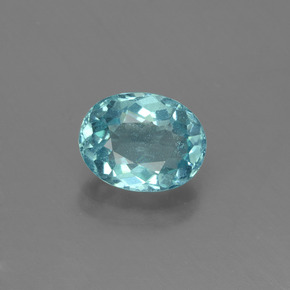 1.33 ct Oval Facet Blue Apatite Gemstone 7.84 mm x 6.1 mm (Product ID: 429691)