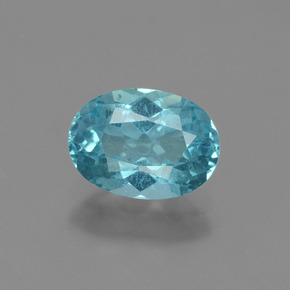1.23 ct Oval Facet Blue Apatite Gemstone 8.13 mm x 5.9 mm (Product ID: 429693)