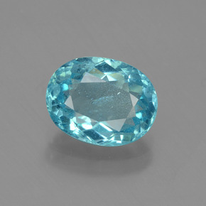 1.60 ct Oval Facet Blue Apatite Gemstone 8.46 mm x 6.6 mm (Product ID: 429697)