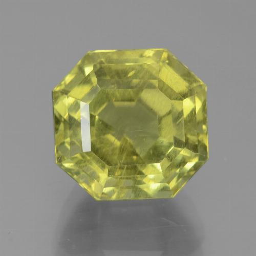 Golden Green Apatite Gem - 7ct Asscher Cut (ID: 438942)