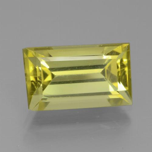 4.94 ct Baguette Facet Golden Apatite Gemstone 12.51 mm x 7.4 mm (Product ID: 438947)
